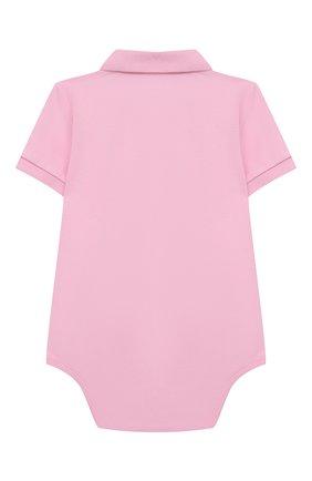 Детское хлопковое боди POLO RALPH LAUREN светло-розового цвета, арт. 320812073 | Фото 2