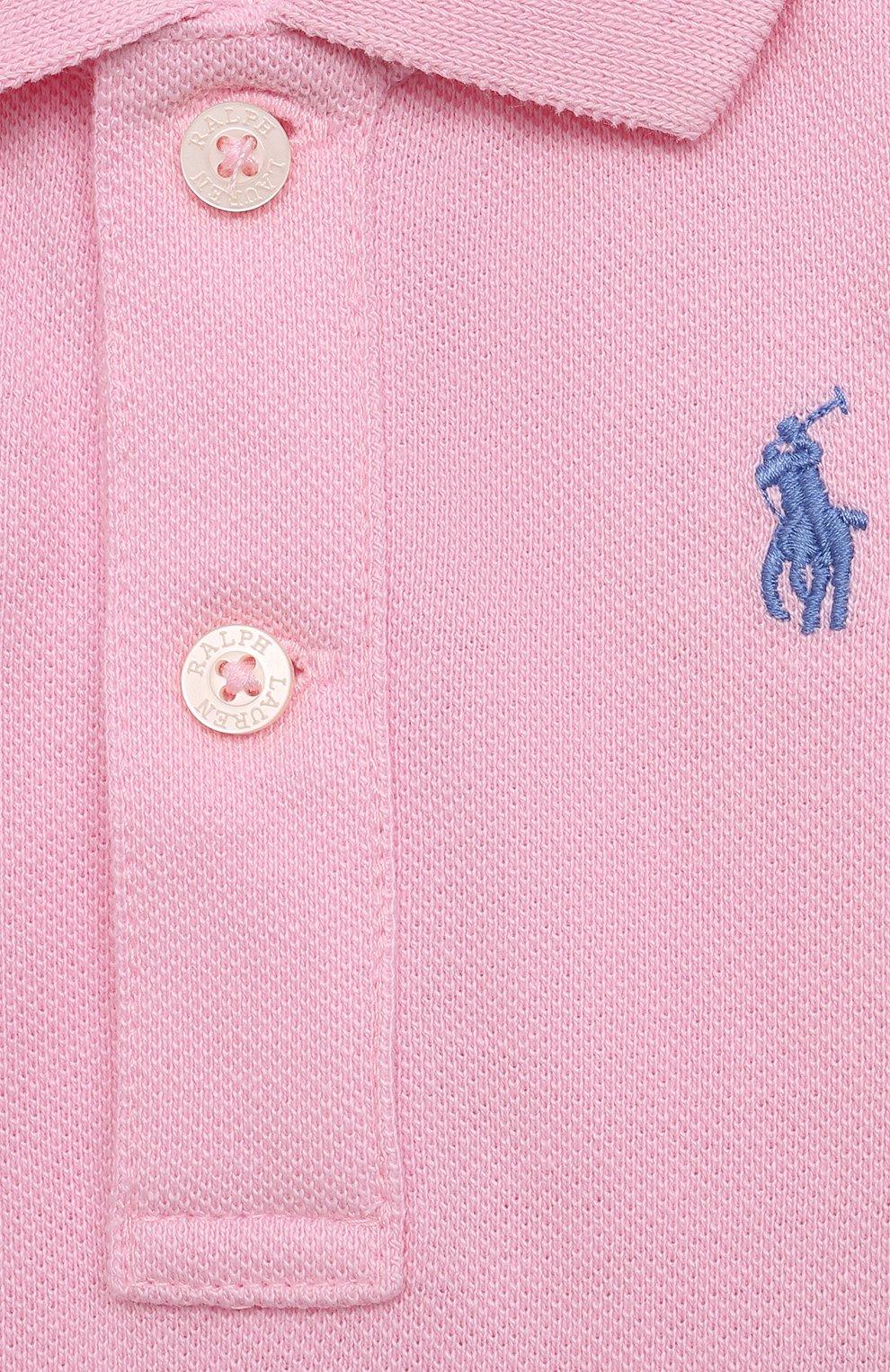 Детское хлопковое боди POLO RALPH LAUREN светло-розового цвета, арт. 320812073 | Фото 3
