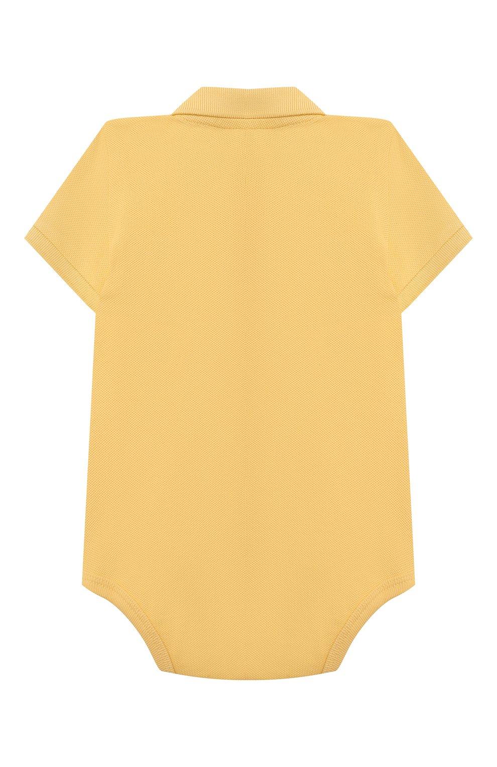 Детское хлопковое боди POLO RALPH LAUREN желтого цвета, арт. 320812073 | Фото 2