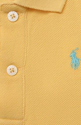 Детское хлопковое боди POLO RALPH LAUREN желтого цвета, арт. 320812073 | Фото 3