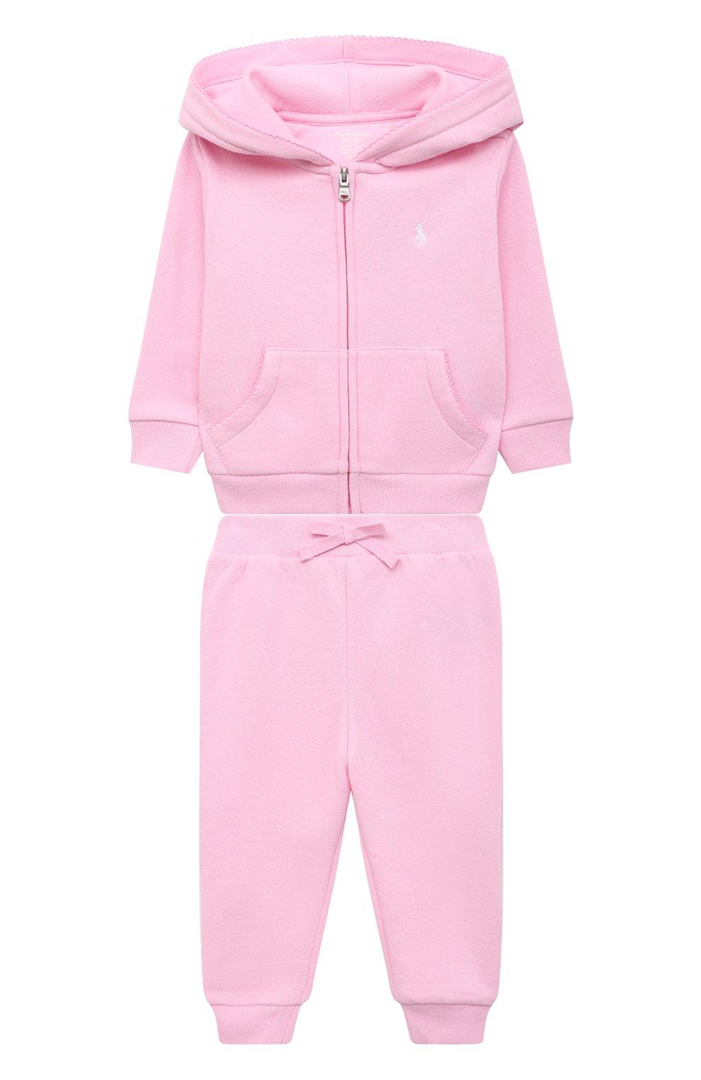 Детский комплект из толстовки и брюк POLO RALPH LAUREN розового цвета, арт. 310833730   Фото 1