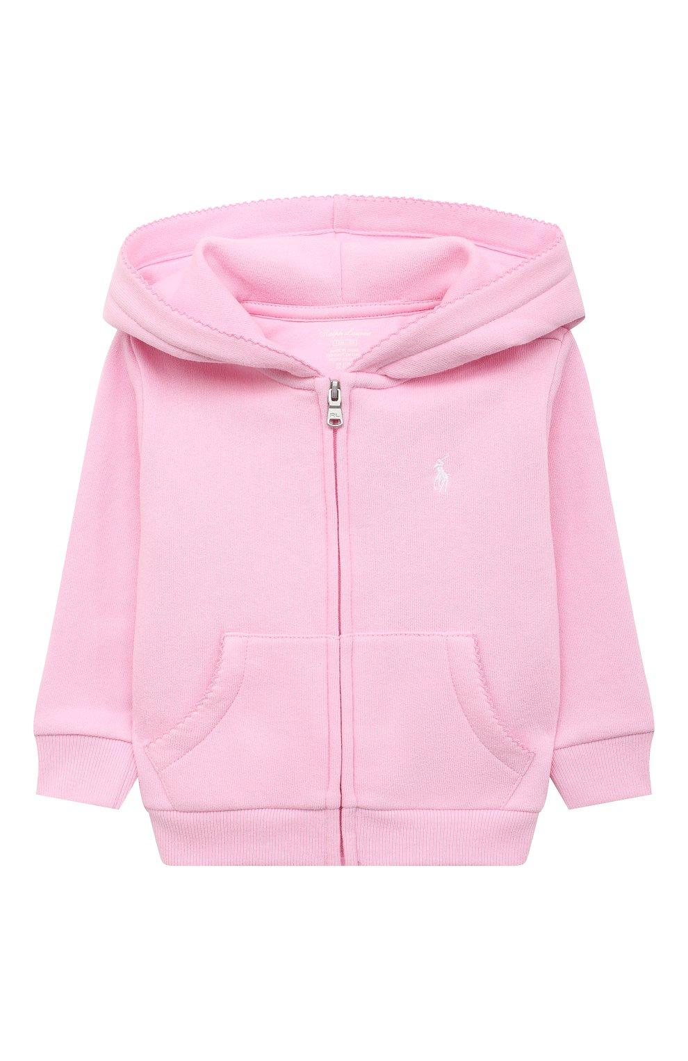 Детский комплект из толстовки и брюк POLO RALPH LAUREN розового цвета, арт. 310833730   Фото 2