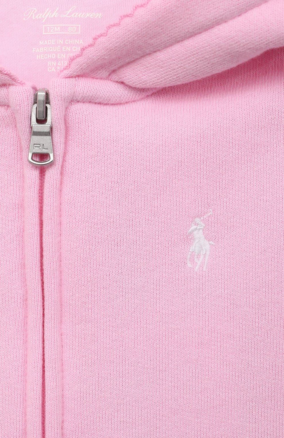 Детский комплект из толстовки и брюк POLO RALPH LAUREN розового цвета, арт. 310833730   Фото 6