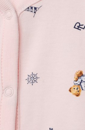 Детское хлопковый песочник POLO RALPH LAUREN розового цвета, арт. 310833430 | Фото 3