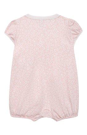 Детское хлопковый песочник POLO RALPH LAUREN розового цвета, арт. 310833418 | Фото 2