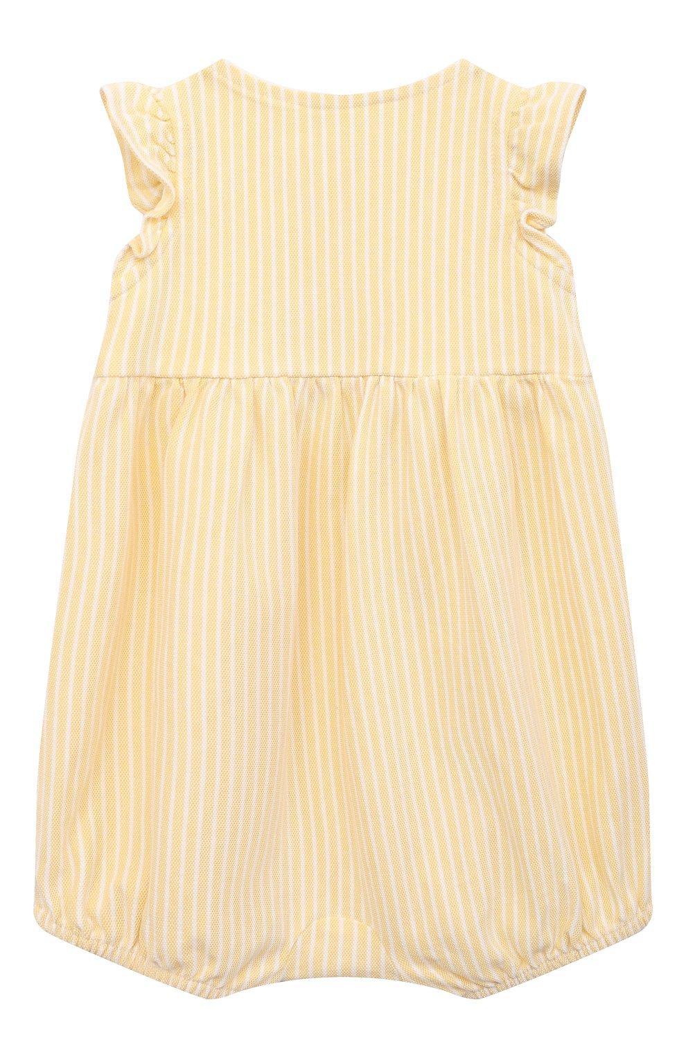 Детское хлопковый песочник POLO RALPH LAUREN желтого цвета, арт. 310833416 | Фото 2
