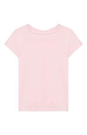 Детская хлопковая футболка POLO RALPH LAUREN розового цвета, арт. 312838265 | Фото 2