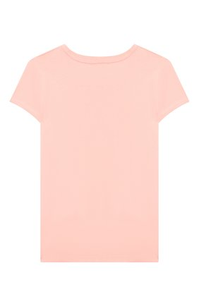 Детская хлопковая футболка POLO RALPH LAUREN розового цвета, арт. 313833549 | Фото 2