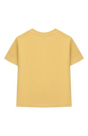 Детский хлопковая футболка POLO RALPH LAUREN желтого цвета, арт. 320832904 | Фото 2