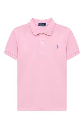 Детское хлопковое поло POLO RALPH LAUREN розового цвета, арт. 322603252 | Фото 1