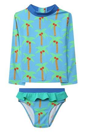 Детского купальный костюм STELLA MCCARTNEY бирюзового цвета, арт. 602572/SQK66 | Фото 1