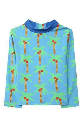 Детского купальный костюм STELLA MCCARTNEY бирюзового цвета, арт. 602572/SQK66 | Фото 2