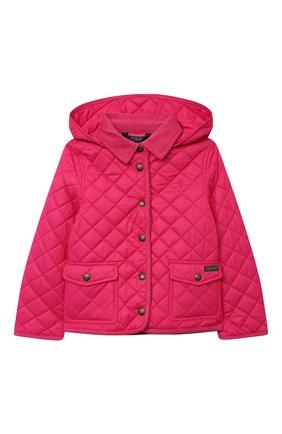Детская стеганая куртка POLO RALPH LAUREN фуксия цвета, арт. 312795692 | Фото 1