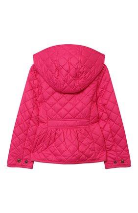 Детская стеганая куртка POLO RALPH LAUREN фуксия цвета, арт. 312795692 | Фото 2