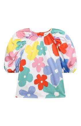 Детское хлопковая блузка STELLA MCCARTNEY разноцветного цвета, арт. 602832/SQKA4 | Фото 1