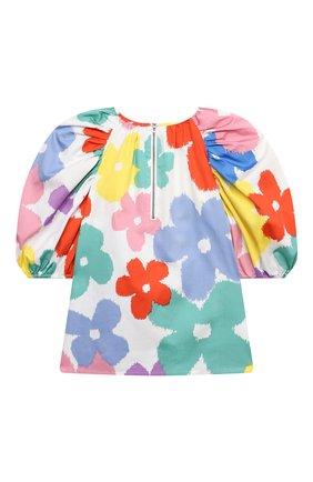 Детское хлопковая блузка STELLA MCCARTNEY разноцветного цвета, арт. 602832/SQKA4 | Фото 2