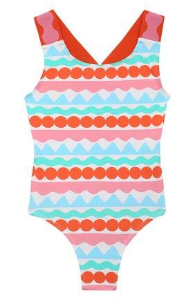 Детского слитный купальник STELLA MCCARTNEY разноцветного цвета, арт. 602810/SQK69 | Фото 1