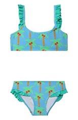 Детского раздельный купальник STELLA MCCARTNEY бирюзового цвета, арт. 602802/SQK66 | Фото 1