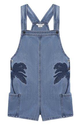 Детский джинсовый комбинезон STELLA MCCARTNEY синего цвета, арт. 602712/SQKB8 | Фото 1
