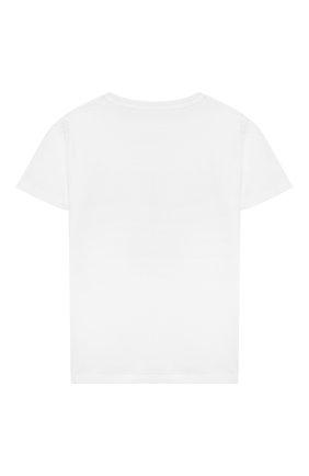 Детская хлопковая футболка STELLA MCCARTNEY белого цвета, арт. 602652/SQJA6 | Фото 2