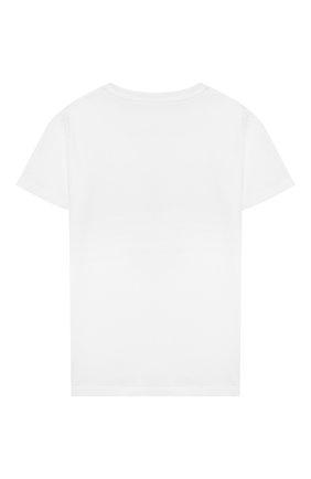 Детская хлопковая футболка STELLA MCCARTNEY белого цвета, арт. 602648/SQJ94 | Фото 2