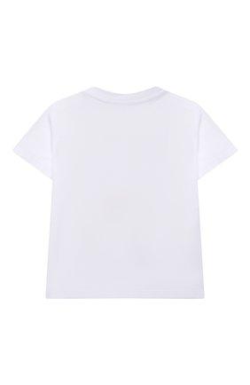 Детский хлопковая футболка STELLA MCCARTNEY белого цвета, арт. 602597/SQJB2 | Фото 2