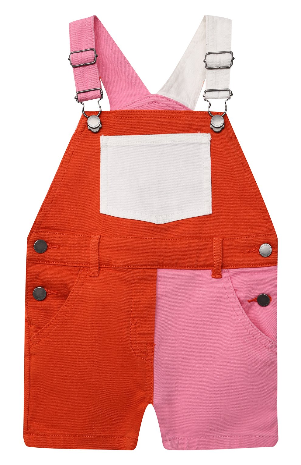 Детский джинсовый комбинезон STELLA MCCARTNEY разноцветного цвета, арт. 602518/SQKB4 | Фото 1