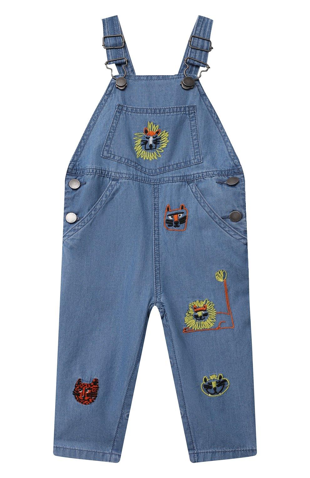 Детский джинсовый комбинезон STELLA MCCARTNEY синего цвета, арт. 602376/SQK16 | Фото 1