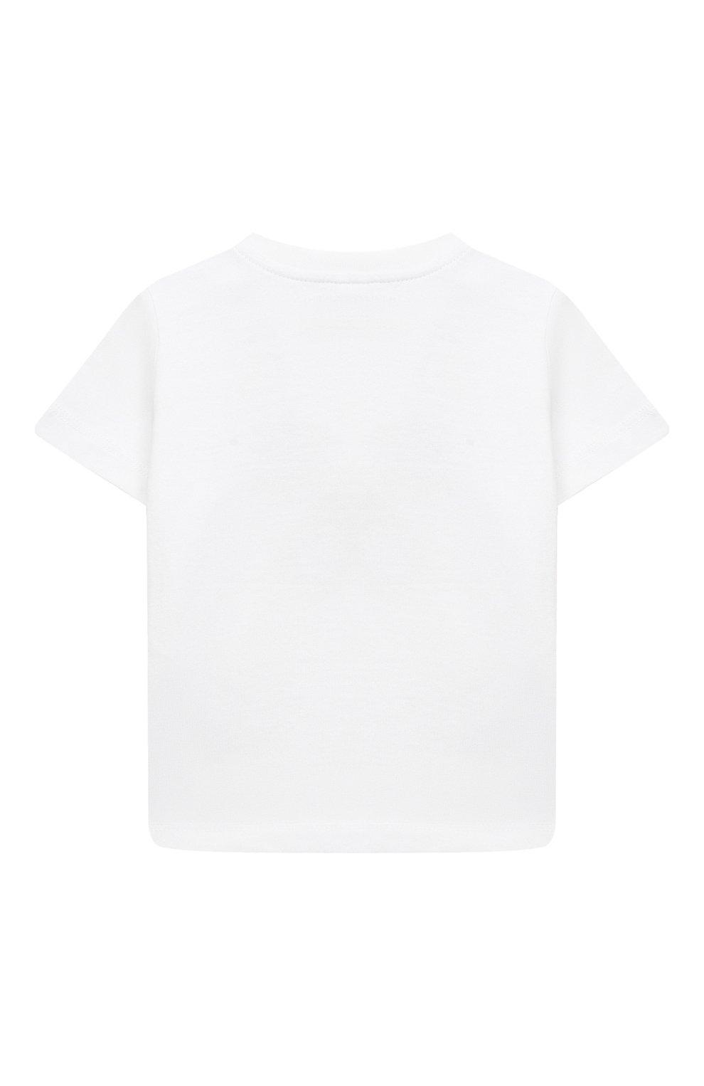Детский хлопковая футболка STELLA MCCARTNEY белого цвета, арт. 602270/SQJ82 | Фото 2