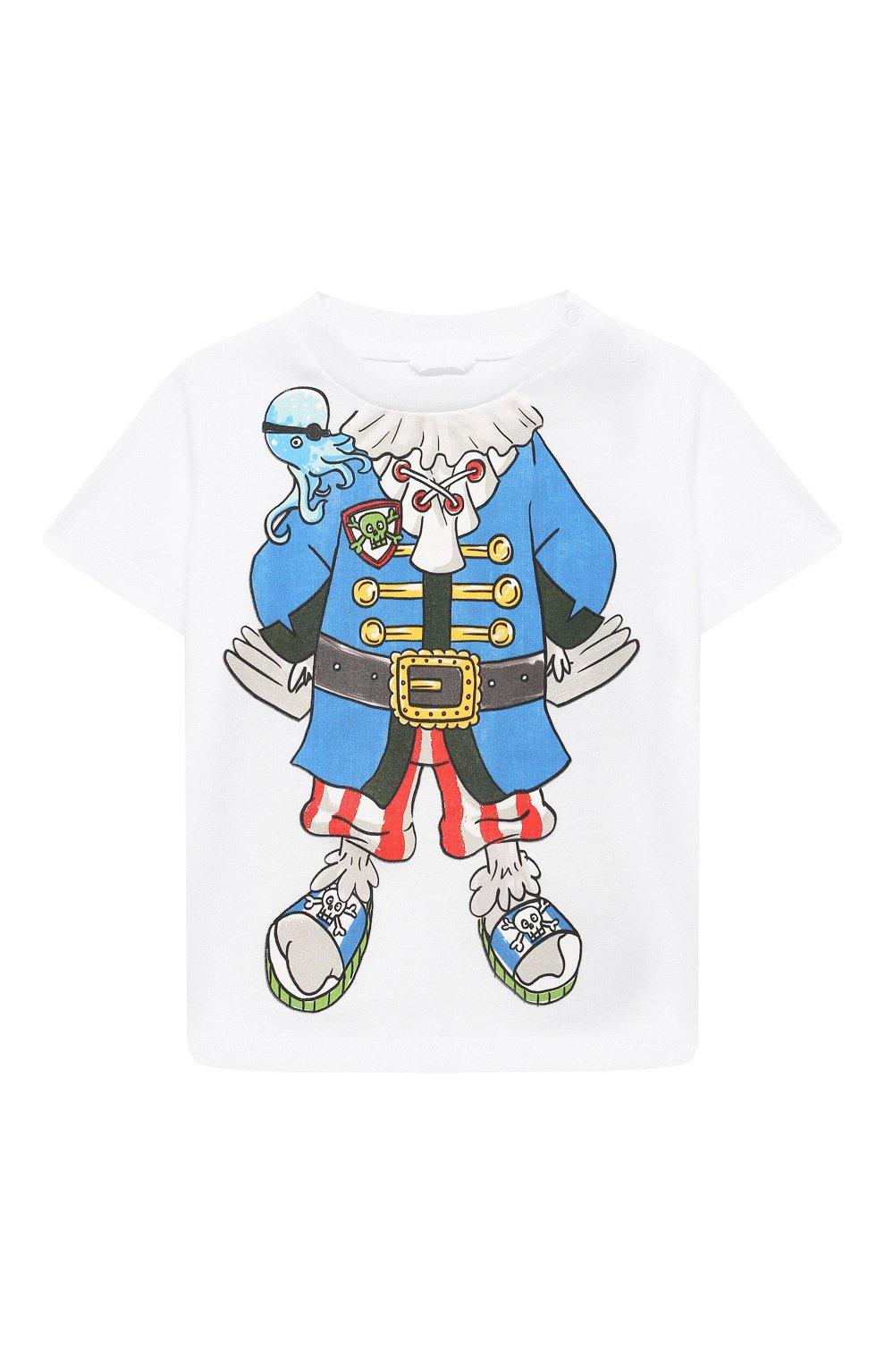 Детский хлопковая футболка STELLA MCCARTNEY белого цвета, арт. 602270/SQJ69 | Фото 1