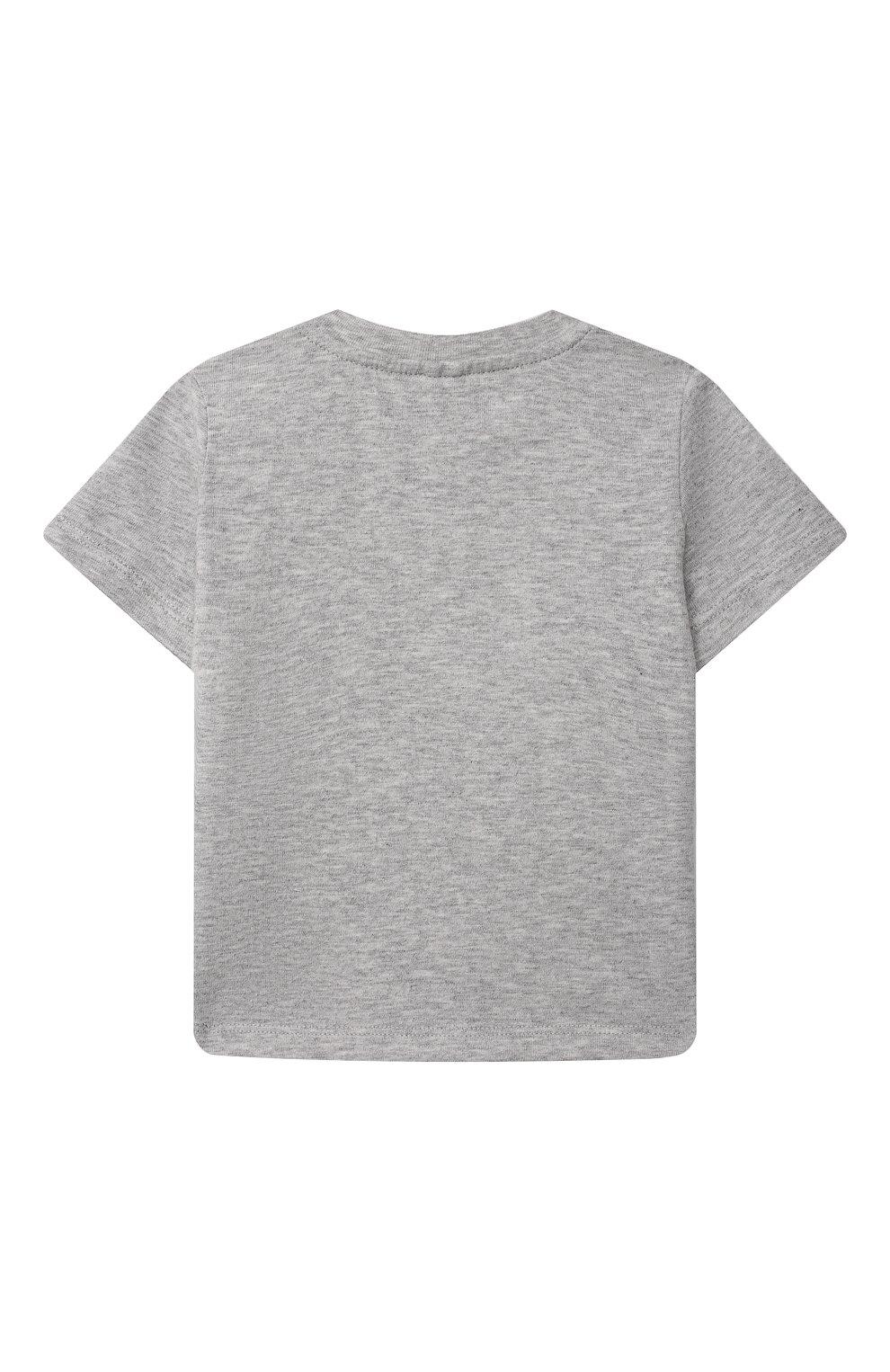 Детский хлопковая футболка STELLA MCCARTNEY серого цвета, арт. 602270/SQJ19 | Фото 2