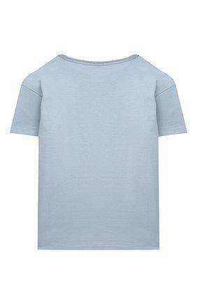 Детская хлопковая футболка DOLCE & GABBANA светло-голубого цвета, арт. L4JT7T/G70LK/2-6 | Фото 2