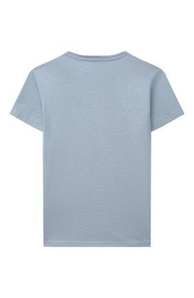 Детский хлопковая футболка DOLCE & GABBANA светло-голубого цвета, арт. L1JT7T/G70LK | Фото 2