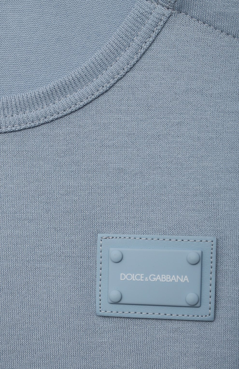 Детский хлопковая футболка DOLCE & GABBANA светло-голубого цвета, арт. L1JT7T/G70LK   Фото 3