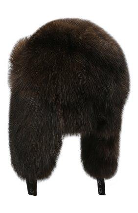 Женская шапка-ушанка из меха соболя KUSSENKOVV коричневого цвета, арт. 93570004097 | Фото 2
