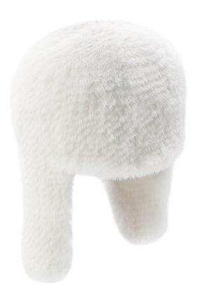 Женская шапка-ушанка из меха норки KUSSENKOVV белого цвета, арт. 91750001433 | Фото 1