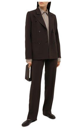 Женский жакет из вискозы LESYANEBO коричневого цвета, арт. FW20/H-108 | Фото 2