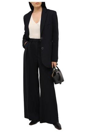 Женские шерстяные брюки LESYANEBO черного цвета, арт. FW20/H-434/N   Фото 2