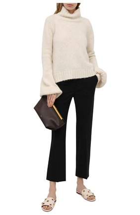 Женские кожаные шлепанцы valentino garavani upstud spike VALENTINO белого цвета, арт. VW2S0BK4/ZCG | Фото 2
