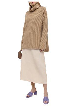 Женские кожаные мюли BOTTEGA VENETA сиреневого цвета, арт. 651378/VBSL0 | Фото 2