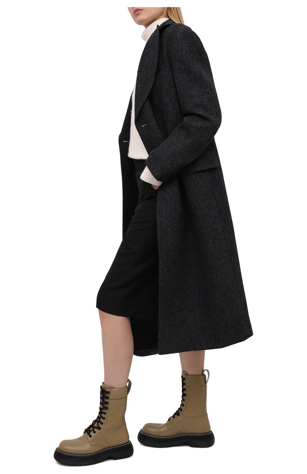 Женские кожаные ботинки BOTTEGA VENETA серого цвета, арт. 651411/V00H0 | Фото 2