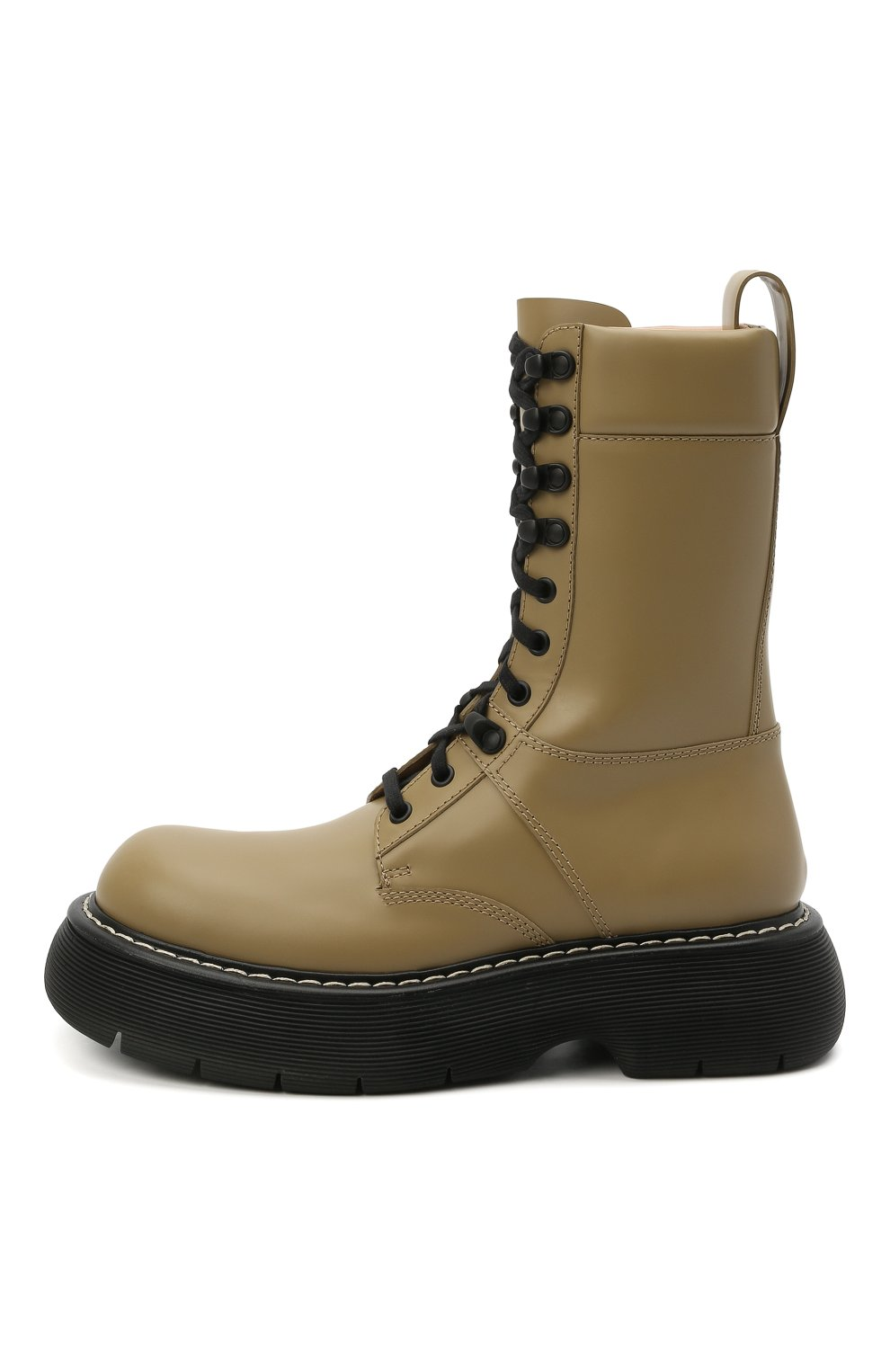 Женские кожаные ботинки BOTTEGA VENETA серого цвета, арт. 651411/V00H0 | Фото 3