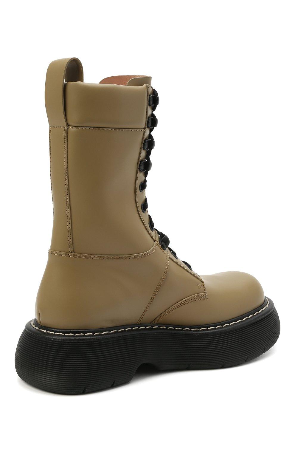 Женские кожаные ботинки BOTTEGA VENETA серого цвета, арт. 651411/V00H0 | Фото 4