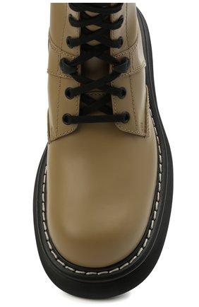 Женские кожаные ботинки BOTTEGA VENETA серого цвета, арт. 651411/V00H0 | Фото 5
