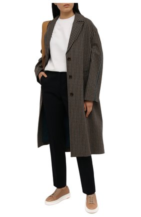 Женские кожаные кеды SANTONI бежевого цвета, арт. WBCD60791BARCDRKC40 | Фото 2