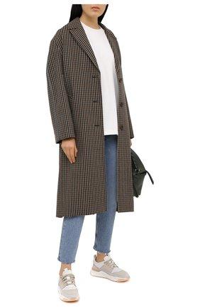 Женские кожаные кроссовки SANTONI серого цвета, арт. WBI060772BTTXF0EG20 | Фото 2