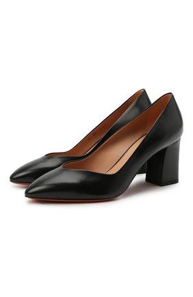 Женские кожаные туфли SANTONI черного цвета, арт. WDHZ58610HI2NSZAN01 | Фото 1