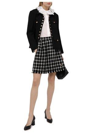 Женские кожаные туфли SANTONI черного цвета, арт. WDHZ58610HI2NSZAN01 | Фото 2
