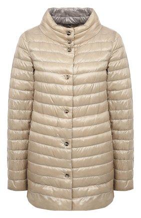 Женская пуховая куртка HERNO бежевого цвета, арт. PI1234D/12017 | Фото 1