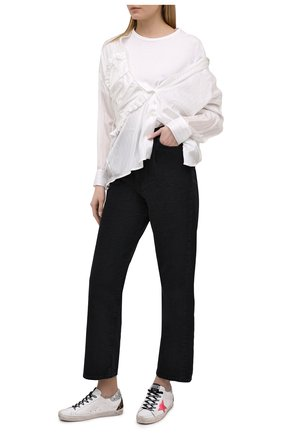 Женские кожаные кеды superstar GOLDEN GOOSE DELUXE BRAND белого цвета, арт. GWF00102.F000249 | Фото 2